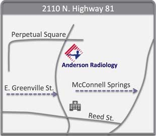 Map of Anderson Radiology