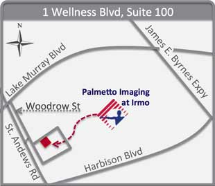 Map of Palmetto Imaging - Irmo