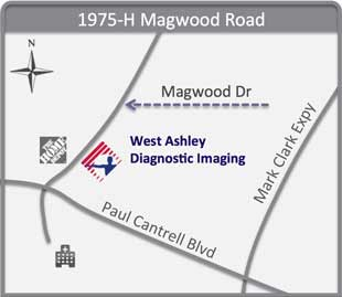 Map of Tricounty Radiology - West Ashley
