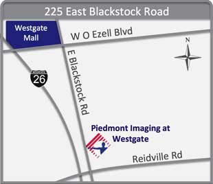 Map of Piedmont Imaging at Westgate